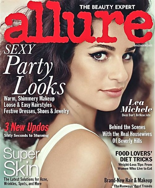 "Lea Michele covers the December issue of Allure. The 25-year-old ""Glee"" star ..."